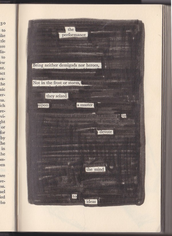 Performance - erasure poem by Rosetti C